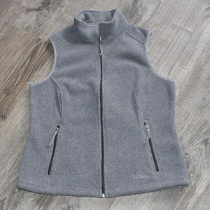 LL Bean Women's Fleece Vest Gray Size Small